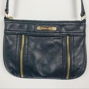 Michael Kors Small Black Leather Crossbody Bag